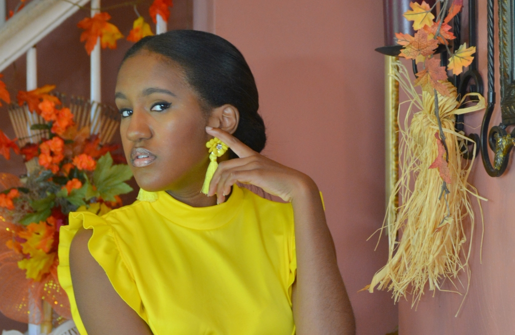 """Print Model Gabrielle """"Bri"""" Pinkney Photoshoot of Fall's Fashion Trend Neon Colors"""