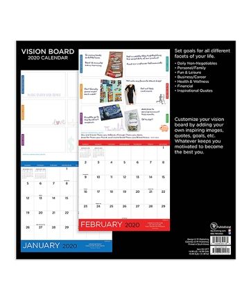 Vision Board Wall Calendar